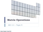 09 Matrices Basics 14 Oct 9