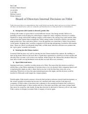 Board of Directors Internal  Decision on Fitbit.docx