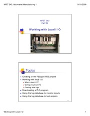 4 - Working with Local IO - Fall 09