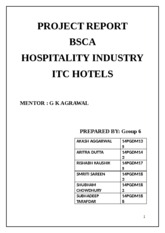 BSCA - Group 6 - Hospitality Industry - ITC Hotels