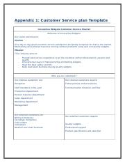 Innovative Widgets Customer support policy and procedure collecting ...