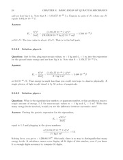 Fund Quantum Mechanics Lect & HW Solutions 42
