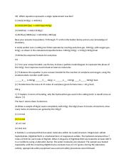 Chem Study #1.docx - 39 Which Equation Represents A Single