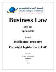 Business Law – BUS 305 Project