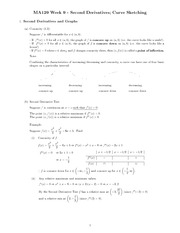 Chapter 9 - second derivatives study guide