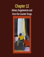 Chapter 12. dietary supplements...10.25.2016