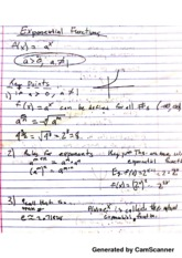 Pre-Cal Inverse & Exponential Functions Notes