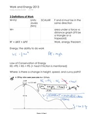 Physics 12 Work and Energy