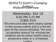 GEOG272Midterm Overview