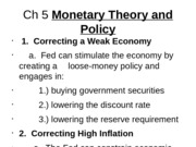 Ch 5 Monetary Theory and Policy2