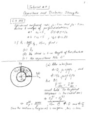 Tutorial 11 - Capacitance Notes