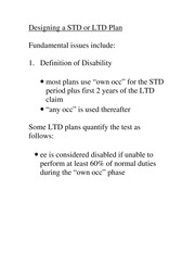 Module 4 Notes- Designing LTD Plan