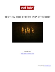 Text On Fire Effect In Photoshop