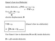 Lecture 18, Dielectrics