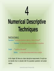 QNM222 Ch4 - Numerical Descriptive Techniques - (1)
