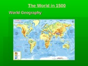 01 The World in 1500