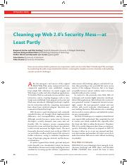 Cleaning up Web 2.0's Security