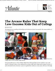 Carr (2013) The Arcane Rules That Keep Low-Income Kids Out of College - National - The Atlantic.pdf