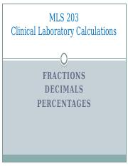 1- MLS 203_Lec 2_Fractions_Decimals_Percentages