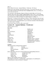 ReviewSheet-AquaticHabitat-Freshwater