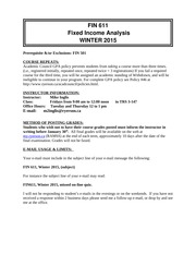 Course Outline Winter 2015