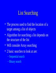 Lecture3_List Searching
