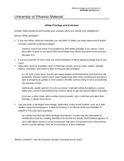 white privileges essay The invisiblity of white privilege abstract people in our society can go through life without knowing about white privilege or realizing they themselves,.