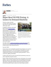 Super Bowl XLVIII Pricing_ A Lesson In Demand Elasticity - Forbes