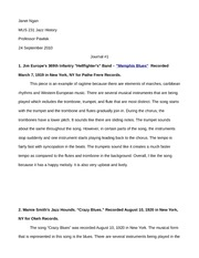 Jazz History Journal 1