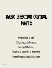 (2)Basic Infection Control Part 2
