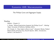 Lecture16 - The Phillips Curve and Aggregate Supply