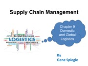 Chapter 9 Domestic and Global Logistics