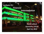 Lecture 21 Financial Intermediation