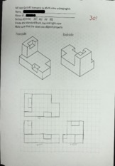 ME 102 quiz-isometric to multiview ortho