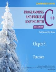 CSC 511 - 01 - CHAPTER 8 - FUNCTIONS