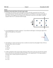 PHY 102 : GENERAL PHYSICS 2 - Oakland University - Course Hero
