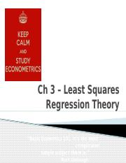 Ch 3 Intro to Least Squares Regression Theory for moodle
