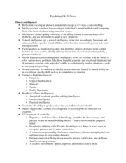 Psychology-Ch 10 Notes