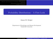 Psychology 310_Steiger_Lecture Notes on Probability Distributions