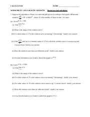 Calc - Worksheets 1 and 2 on Logistic Growth.doc