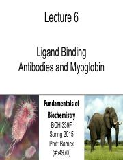 Lecture-6 - Ligand Binding - Antibodies and Myoglobin