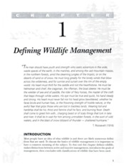 Chapter 1 Introduction to Wildlife Management - The Basics (1)