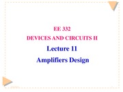 Lecture 11 Amplifiers Design(9-5-14)