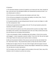 introduction to international relations essay questions Syllabus for political science 1301: introduction to international questions in a one-page, double-spaced essay international relations during.