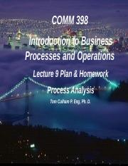 Lecture 9 Process Analysis
