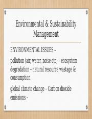 Chapter 4 Environmental  Sustainability Management
