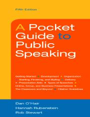 public speaking book.pdf - brief contents part 1 getting started 1 1  becoming a public speaker 2 2 from a to z overview of a speech 8 3 managing  speech   course hero  course hero