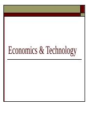 #9 Economics & Technology 2013 (1).ppt