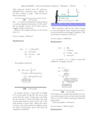 Practice Problems 1 - solutions
