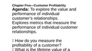 Lecture on Mktg Metrics (ch 5)
